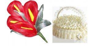 Bouquet y cestas para los alfileres