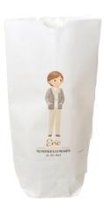 Bolsa de papel para comunión, niño con foulard