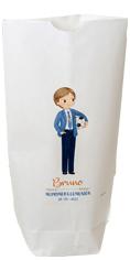 Bolsa de papel para comunión, niño comunión con balón de futbol