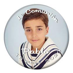 Chapa personalizada con una fotografía de chico