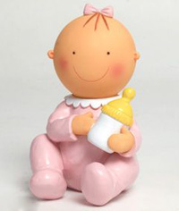 Figura tarta Pita sentada con biberón