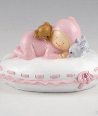 Figura tarta bautizo hucha Pita sobre almohada